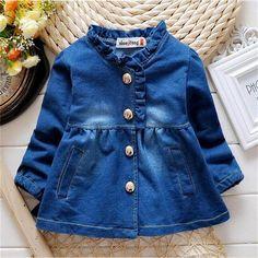 2016 niños ropa de abrigo niñas chaqueta de vaquero embroma la capa ocasional abrigo de primavera otoño de lujo del bebé ropa niños ropa en Chaquetas y Abrigos de Bebés en AliExpress.com   Alibaba Group