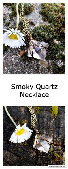 Smoky Quartz Necklace / Quartz Jewelry / Smoky Quartz Jewelry / Boho Necklace / Crystal Jewelry / Crystal Necklace / Wire Wrapped Necklace  #etsy #handmade #quartznecklace #crystals #bohofashion