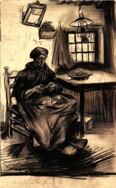 Vincent van Gogh - Woman Shelling Peas