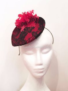 A personal favourite from my Etsy shop https://www.etsy.com/hk-en/listing/508418808/red-fascinator-wedding-party-cocktail