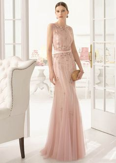 2016 Blush Pink Weddings_ Sequin Blush Pink Bridesmaid dress ideas by AireBarcelona AB_8U321
