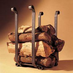 Okell's Originals™ Log Holder Wood Cart, Firewood Holder, Fireplace Logs, Aspen Wood, Wrought Iron Decor, Log Holder, Wood Basket, Traditional Fireplace, Fireplace Accessories
