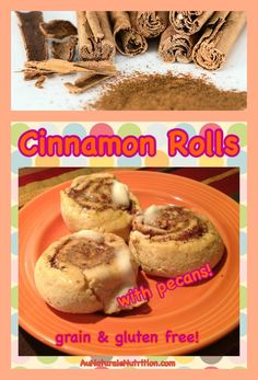Cinnamon Rolls with Pecans!  Paleo, gluten free, grain free, low-carb.  Totally delicious and easy to make!
