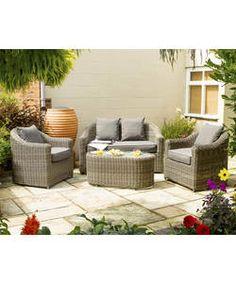 Bunbury Rattan Garden Sofa Set.