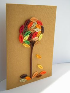 Quilling by Anca Milchis - love the colours and simplicity