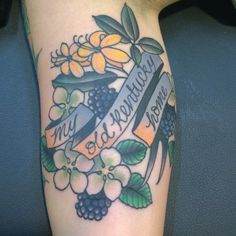 By Nicole Eveland at Bleed Blue Tattoo. Love the blackberries!
