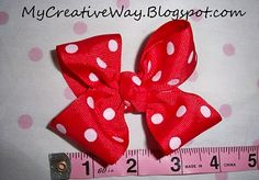 How to make a great 4inch bow!!! easy peasy and so beautiful!!