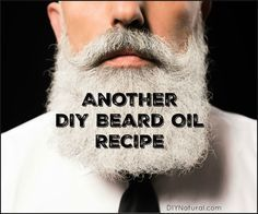 This DIY beard oil recipe conditions your beard and soaks in easily without leaving a greasy feeling behind. Combing through helps evenly disperse the oils.