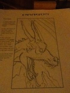Rawr I had to draw a dragon for art class