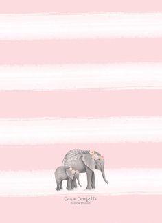 Elefante rosa bebé d