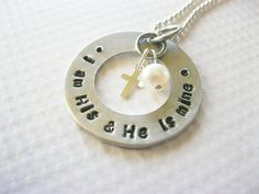 I am His and He is Mine Christian Jewelry by gracetags on Etsy, $26.00
