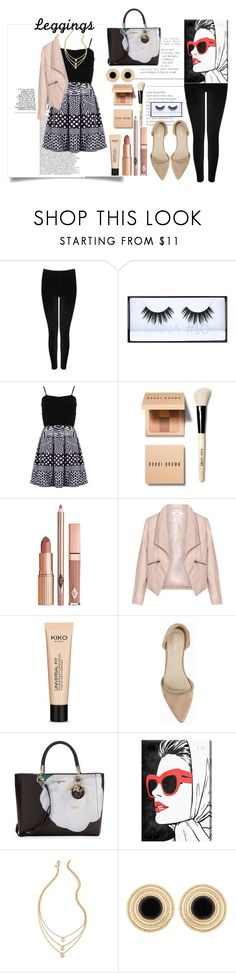 """""""Wardrobe Staples: Leggings"""" by ajengyuanita ❤ liked on Polyvore featuring M&Co, Huda Beauty, FRACOMINA, Bobbi Brown Cosmetics, Dolce Vita, Zizzi, Universal, Nly Shoes, Karl Lagerfeld and Oliver Gal Artist Co."""