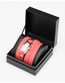 wrap watch in coral.