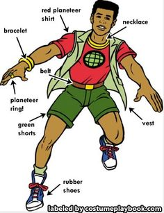kwame - earth - captain planet costume