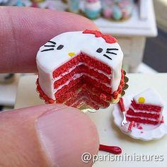 Hello Kitty red velvet cake #minifood #miniaturefood #mini… | Flickr