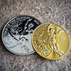 Happy #ChineseNewYear! Here are the new #UK 1oz #silver and #gold year of the #monkey #bullion #coins. They have recently sold out at source but we still have some available.  #coin #coincollecting #numismatics #China #8 #lunar #cny #2016 #hny #sterling #money #poundsign #pounds