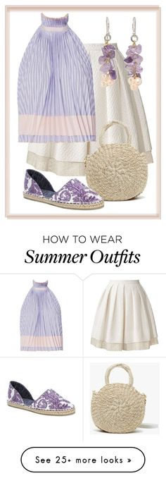 Summer Outfits : Hyde Park Summer by dundiddit on Polyvore featuring Orla Kiely Adam Selman N