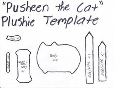 Pusheen The Cat Template by GRNMARCO.deviantart.com on @deviantART