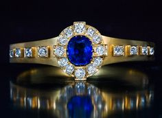 Antique French Sapphire Diamond Gold Bracelet - Antique Jewelry | Vintage Rings | Faberge Eggs