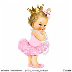Shop Ballerina Tutu Princess Baby Girl Shower Statuette created by The_Vintage_Boutique. Personalize it with photos & text or purchase as is! Ballerina Tutu, Ballerina Baby Showers, Baby Girl Princess, Baby Shower Princess, Little Princess, Vintage Princess, Clipart Baby, Tutu Bailarina, Baby Shower Table Decorations