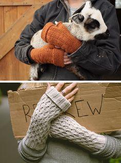 New Favorites: Foldover fingerless mitts