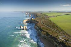 The Great Ocean Road, and the Twelve Apostles. Victoria, Australia