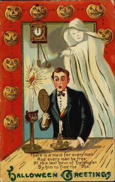 vintage everyday: 39 Bizarre Vintage Postcards Greeting Halloween from the and Retro Halloween, Spooky Halloween, Photo Halloween, Victorian Halloween, Vintage Halloween Images, Halloween Pictures, Vintage Holiday, Holidays Halloween, Halloween Crafts