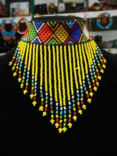 African Maasai Beaded Choker Necklace, African Choker, Multicolored Necklace, One Size Fits All, Gif
