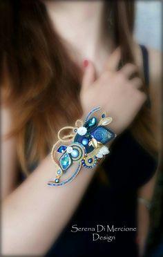 Soutache Bracelet, Shibori, Brooch, Jewels, Earrings, Handmade, Macrame, Fashion, Bracelet