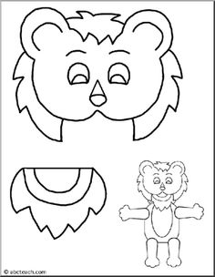 easy craft for kids a lion puppet with moving head and