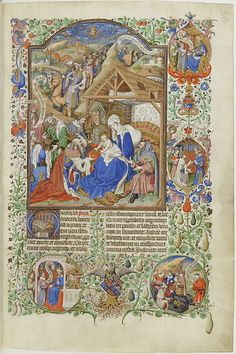 circa 1430-1460, Bedford Master, Adoration des rois mages:miniature d'un bréviaire à l'usage de Salisbury, illumination on parchment,25.5×17.5 cm,Bibliothèque nationale de France.