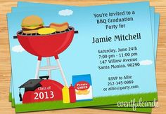 Graduation Invitations | graduation-bbq-party-invitation