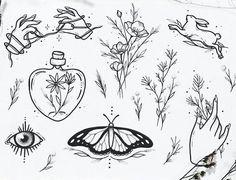 Tatuagens Pequenas e Delicadas +De 120 Modelos de desenhos Mini Tattoos, Cute Tattoos, Flower Tattoos, Body Art Tattoos, Tattoo Flash, Tatoo Styles, Tattoos On Side Ribs, Doodle Images, Geometric Tattoo Design