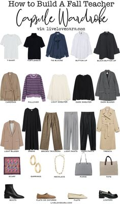 Capsule Wardrobe Essentials, Fall Capsule Wardrobe, Teacher Wardrobe, Teacher Outfits, Denim Jacket With Dress, Blazer Dress, Fall Outfits, Summer Outfits, Summer Clothes