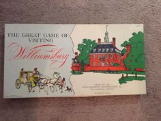 The Great Game of Visiting Williamsburg Vintage Board Games, Cayman Islands, Belize, St Kitts, Grenada, Trinidad And Tobago, New Zealand, Ebay, Things To Sell