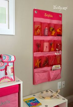 The Hang-Up Space saver is the perfect spot for small toys, while our new Pack n' Pull Caddy makes the perfect diaper station! www.mythirtyone.com