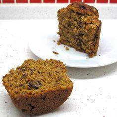 Cozinhar sem Lactose: Muffins de banana, amendoim e pepitas de chocolate