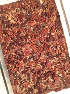siriously delicious: Salted Chocolate Pecan Pie Bars