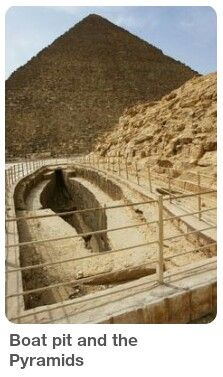 Boat pit by the Pyramids.  Ancient Egyptian solar ships Several Ancient Egyptian solar ships & boat pits were found in Ancient Egyptian sites. Ancient Mysteries, Ancient Ruins, Ancient Artifacts, Ancient Egypt, Ancient History, Old Egypt, Cairo Egypt, Empire Romain, Pyramids Of Giza