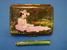 MONET, LADY,SKETCH ART PENCIL authentic FRENCH LIMOGES BOX  ( NEW )