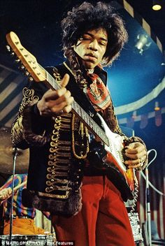 Jimi Hendrix, performing at the Marquee Club in London