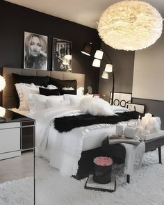Werbung/Advertisement ( Markennennung) Enjoy the Cute Bedroom Ideas, Cute Room Decor, Girl Bedroom Designs, Room Ideas Bedroom, Home Decor Bedroom, Rich Girl Bedroom, Rooms To Go Bedroom, Grey Bedroom Design, Bedroom Ideas For Small Rooms Women