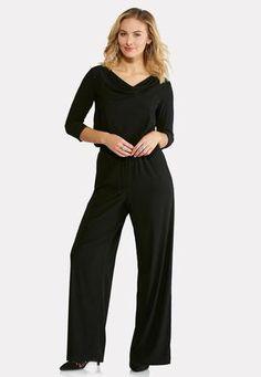 0aeeb4ada36 Cato Fashions Plus Petite Draped Blouson Jumpsuit  CatoFashions Your Style