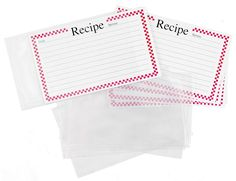 Red Checkered 4 x 6 Inch Recipe Cards with Protective Covers, Set of 14 *** Read more reviews of the product by visiting the link on the image.