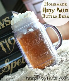 Homemade Harry Potter Butter Beer Recipe! A fun Fall drink for kids