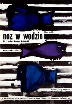 "Jan Lenica  1962 – ""Knife in the Water"", Poland. Directed by Roman Polanski."