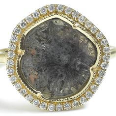 Brooke Gregson's sliced diamond, a ring so gorgeous that it is definitely a work of art!