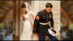 Marine and bride praying before wedding -- This is fabulous...Love it!