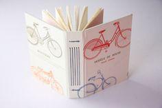 Bike Longstitch Notebook/Sketchbook/Journal by scribbleandjot, $20.00