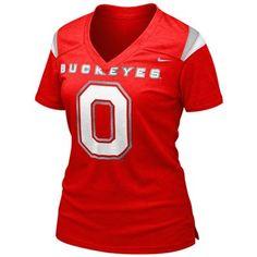 0f034e6e7 Nike Ohio State Buckeyes Ladies Replica Football Premium T-shirt - Scarlet